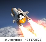 Space Shuttle Launch Above The...
