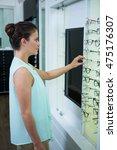 beautiful female customer... | Shutterstock . vector #475176307