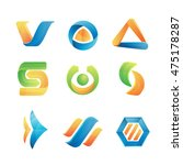 vector abstract logo set... | Shutterstock .eps vector #475178287