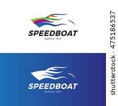 speedboat logo design template. ... | Shutterstock .eps vector #475186537