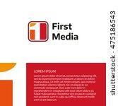 first media channel logo design ... | Shutterstock .eps vector #475186543