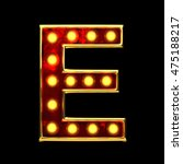 e isolated golden letter with... | Shutterstock . vector #475188217