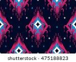 geometric ethnic oriental... | Shutterstock .eps vector #475188823