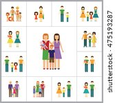 family icon set | Shutterstock .eps vector #475193287