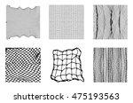 six different net patterns.... | Shutterstock .eps vector #475193563