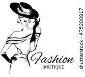 fashion boutique background... | Shutterstock .eps vector #475200817
