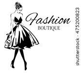 fashion boutique background...   Shutterstock .eps vector #475200823