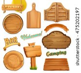 wooden sign set. template for...
