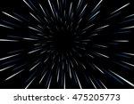 warp stars galaxy vector... | Shutterstock .eps vector #475205773