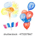 watercolor balloons and...   Shutterstock . vector #475207867