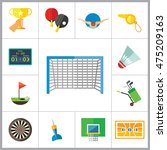 sport games icon set | Shutterstock .eps vector #475209163