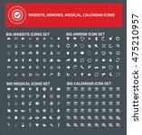 big icon set web icon arrow... | Shutterstock .eps vector #475210957