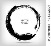 hand drawn circle shape.... | Shutterstock .eps vector #475212307
