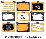 set of creative grunge banners  ... | Shutterstock .eps vector #475222813
