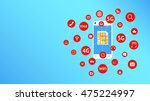 smartphone and sim card with... | Shutterstock .eps vector #475224997