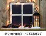 Blank Rustic Window Frame With...