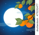 persimmon tree  and night of... | Shutterstock .eps vector #475231477