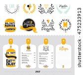 big logo set of restaurant and... | Shutterstock .eps vector #475233913