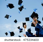 high school graduation hats... | Shutterstock . vector #475234603