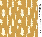 vector seamless christmas tree... | Shutterstock .eps vector #475240147
