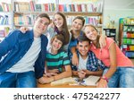 portrait of a group of students ... | Shutterstock . vector #475242277
