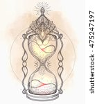 decorative  antique hourglass... | Shutterstock .eps vector #475247197