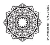 beautiful vector mandala. black ... | Shutterstock .eps vector #475264387