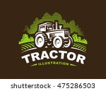 tractor logo illustration ... | Shutterstock .eps vector #475286503