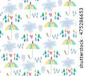 lovely stylish vector pattern... | Shutterstock .eps vector #475286653