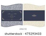wedding invitation baroque.... | Shutterstock .eps vector #475293433