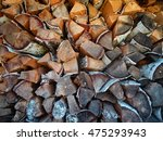 background of dry chopped... | Shutterstock . vector #475293943