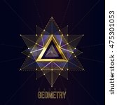 sacred geometry forms on space... | Shutterstock .eps vector #475301053