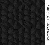 seamless black triangle pattern | Shutterstock .eps vector #475304857