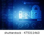 security concept  lock on... | Shutterstock . vector #475311463