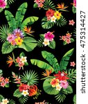 seamless pattern with palm... | Shutterstock .eps vector #475314427
