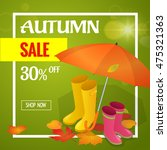 autumn sale banner. design for... | Shutterstock .eps vector #475321363