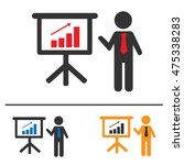 business meeting simple... | Shutterstock .eps vector #475338283