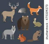 forest animals vector set. | Shutterstock .eps vector #475339273