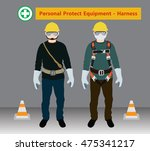 safety harness equipment and... | Shutterstock .eps vector #475341217