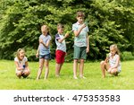childhood  augmented reality ... | Shutterstock . vector #475353583