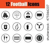 american football icon.  thin...