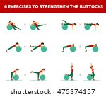 workout for the buttocks with... | Shutterstock .eps vector #475374157