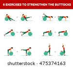 workout for the buttocks with... | Shutterstock .eps vector #475374163
