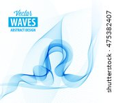 abstract smooth color wave... | Shutterstock .eps vector #475382407