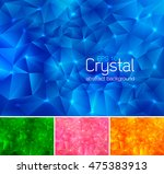polygonal crystal abstract... | Shutterstock .eps vector #475383913