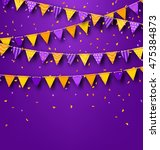 illustration halloween party... | Shutterstock . vector #475384873