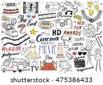 cinema and film industry set.... | Shutterstock .eps vector #475386433