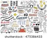 cinema and film industry set.... | Shutterstock .eps vector #475386433