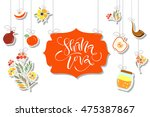 vector collection of labels and ... | Shutterstock .eps vector #475387867