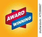 award winning arrow tag sign. | Shutterstock .eps vector #475388887